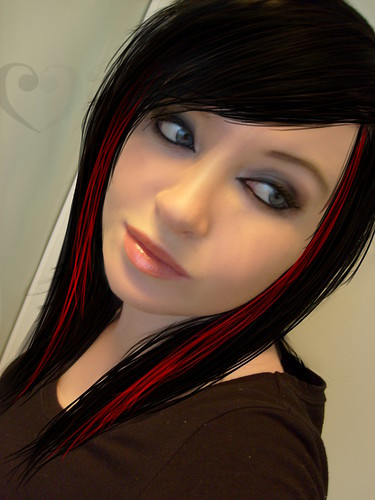 hair color black red