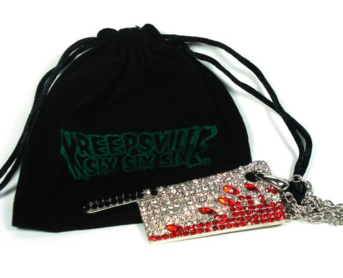 Kreepsville 666 Goreture Diamante Cleaver Necklace