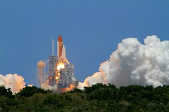 We Have Lift Off! (Samer Farha) Tags: florida space nasa shuttle kennedyspacecenter launch spaceshuttle tweetup spacegasm nasatweetup sts132 editedonipad