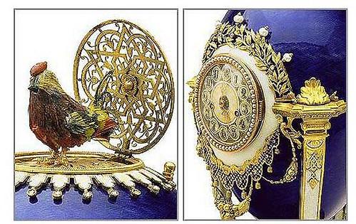 007-Huevo reloj de gallo  detalle 1900-Faberge