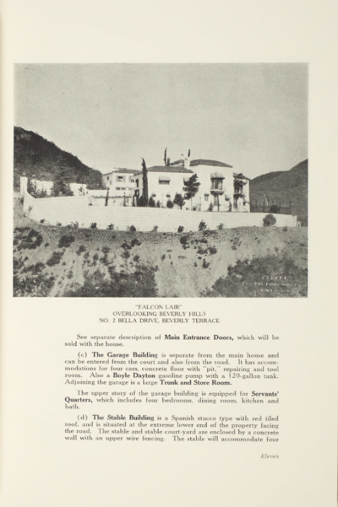 Catalogue (Page 11) of the estate of Rudolph Valentino