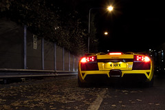 Sitting in the dark. (Alex Penfold) Tags: cars alex sports car yellow night canon dark photography photo cool italian shoot shot image awesome picture fast convertible super exotic photograph lp lamborghini supercar exotica 2010 roadster murcielago lambo penfold 640 murci lp640 450d hpyer lp6404