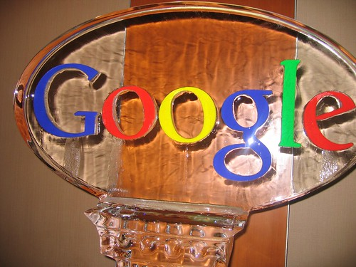 Google Ice Sculpture - SMX Seattle 2007