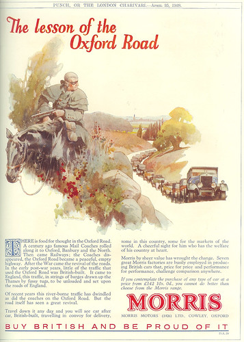 Vintage Ad #255: The Lesson of the Oxford Road Is...