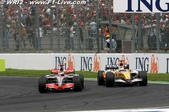 GP Francia - Alonso vs Fisichella