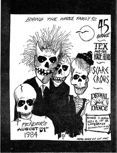 Flyer: 45 Grave at Fender's, 1984