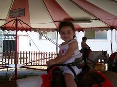 serena rides a pony