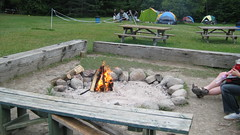 Starting the camp fire (S and T) Tags: rafting ottawariver whitewaterrafting riverrun