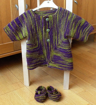 Baby Surprise Jacket and Booties FO