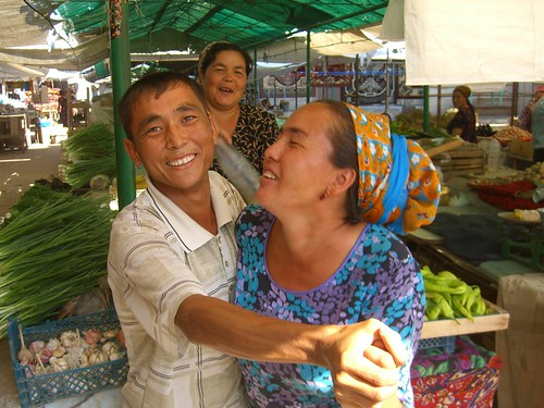 Dancing at the Fresh Market in Turkmenistan