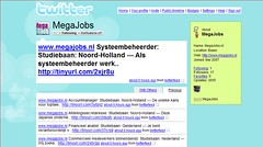 Megajobs-vacatures via Twitter