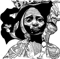 MUGU GUYMEN $hort chop toor cd-r artwork (Ian D. Piirtola) Tags: pen ink work tour skipped soundsfromthepocket muguguymen