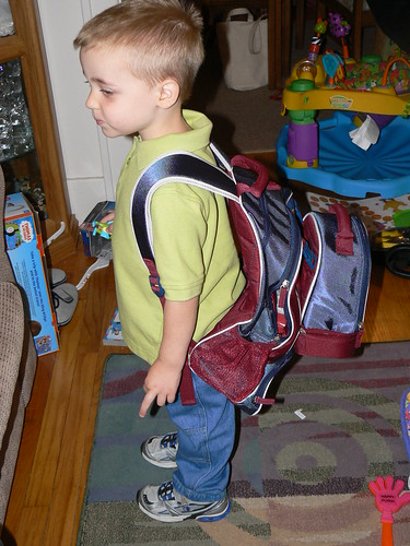 Back pack and lunch box all set