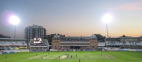 Dusk at Lord's Under the Floodlights