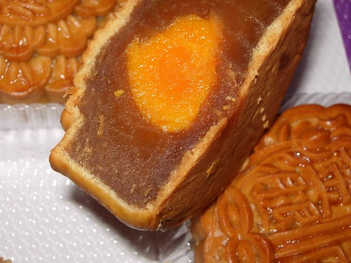 Mooncake - durian and salted duck egg yolk