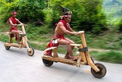 The big race. Naga Wooden Bike!! (Longshim) Tags: travel bike festival tribal tools indigenous naga nagaland nagas manipur tangkhul ukhrul earts08