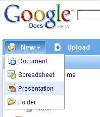 Presentations in Google Docs!