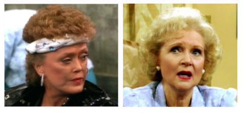 Blanche and Rose from 'The Golden Girls'