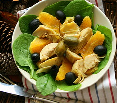 artichokes salad (C.Mariani) Tags: autumn orange salad october bravo olives soe spinach capers culinaryart artichokes mycreation xoxox supershot 25faves abigfave platinumphoto anawesomeshot impressedbeauty colourartaward