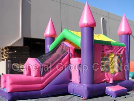 Inflatable Castles-Pink castle combo-GC74
