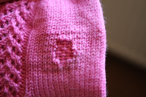 first darning attempt
