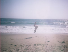 (Joe Curtin) Tags: ocean summer beach water polaroid hannah gymnast flip
