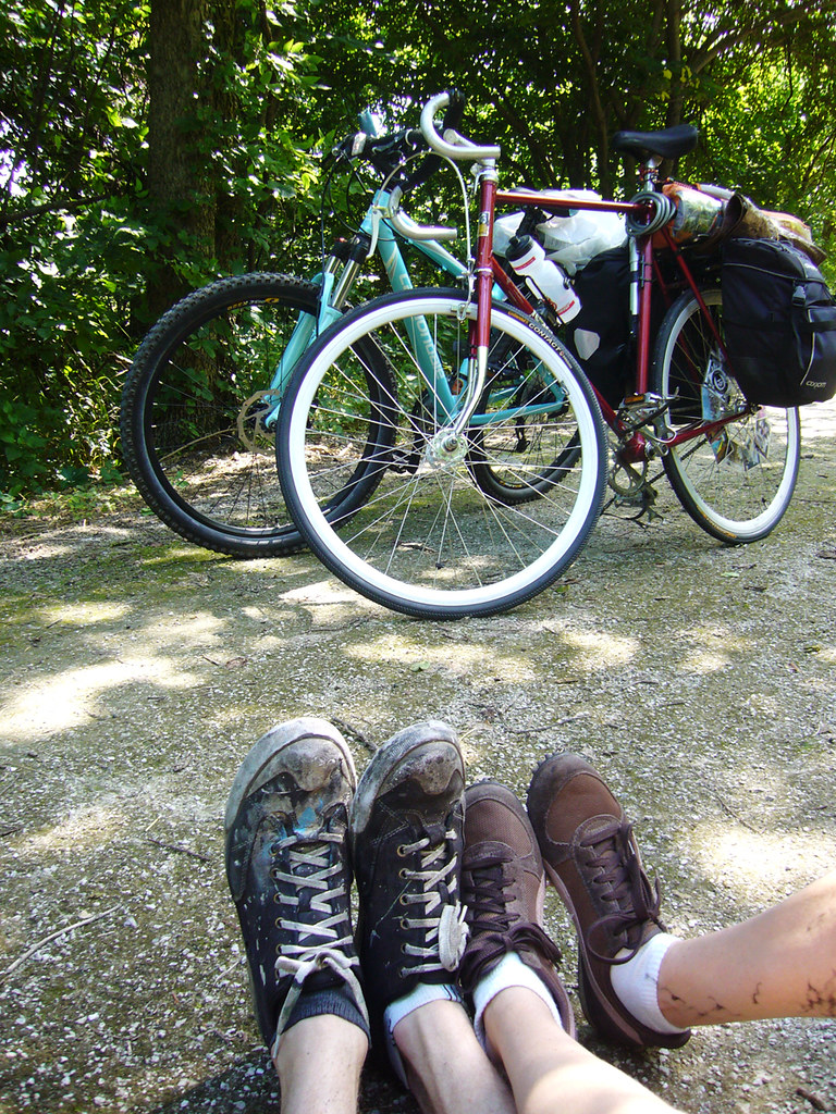 bikes and feet and feet and bikes