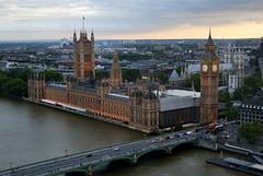 Big Ben & the houses of parliament (Pierre.l16) Tags: sunset london westminster housesofparliament londoneye bigben londres hdr photomatix tamise singleraw leparlement sonya330 sonyalpha330