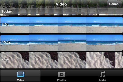 Editing a movie with iMovie on an iPhone 4