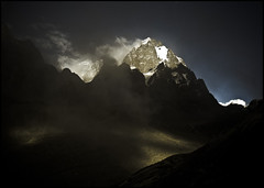 MANIMAHESH (manumint-[BUSY]) Tags: light india lake snow mountains nature trek religious evening peaceful sacred crown punjab spiritual hindu hinduism yatra himachal himalayas shiv jewel  lordshiva hindumythology omnamahshivay manimahesh himachalpardesh devbhumi