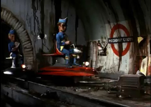 Thunderbirds on the London Underground