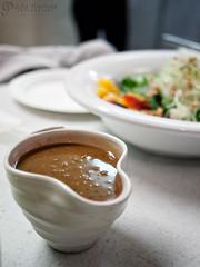 Turkey Gravy (gapey) Tags: thanksgiving food cooking salad gravy olympus class ballard ep1 handbuilt robinleventhal handbuiltfeast cameronscatering thanksgivingwithrobin