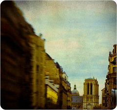 Glimpsed (Gladly Beyond) Tags: blur paris france texture architecture lensbaby pen photoshop cathedral olympus notredame layer olympuspen composer blend lightroom selectivefocus epl1 microfourthirds