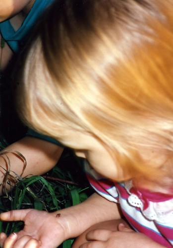 My daughter, Christina, during a teachable moment at age 2, 1992.