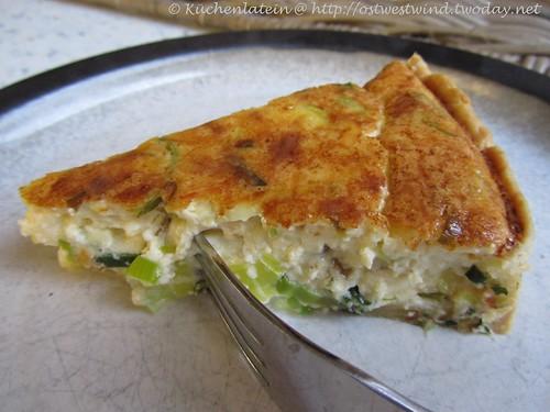 Lauch-Quiche mit dreierlei Käse 002