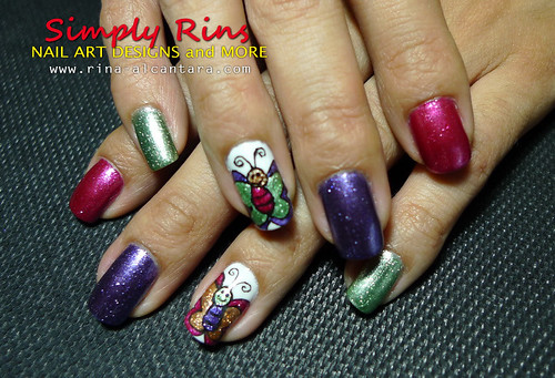 Nail Art Caronia Butterfly 10