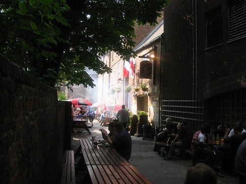 Outside Cafe Rene