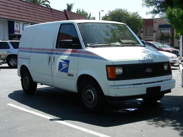 chevrolet mail postoffice astro chevy postal usps van minivan usmail