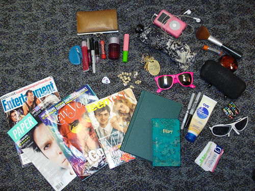 the contents of my bag