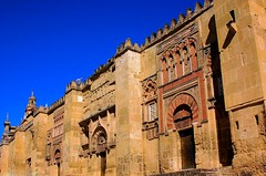 Cordoba Moorishfacade of the Mezquita (George Reader DC) Tags: architecture spain christian spanish moorish cordoba mezquita domes moslem chathedral