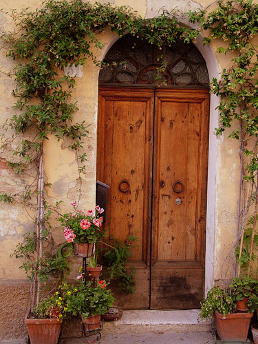Flowered Tuscan Door & Tuscan Door \u0026 Covered Front Door Entrances Entry Traditional With ...