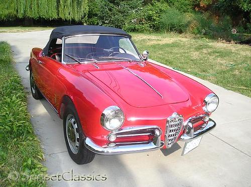 Alfa Romeo Giulietta Spider Veloce. 1959 Alfa Romeo Giulietta