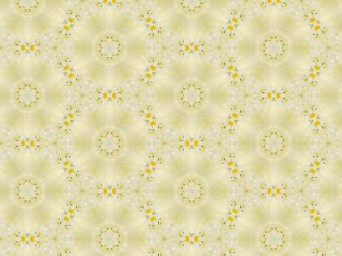 Tiny Yellow & White Flower in Yellow Chiffon 12.1