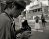 Mister PUU in action (TommyOshima) Tags: monochrome pentax takumar action 55mm puu smc ilford kagurazaka panf f35