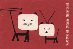 polish matchbox label (maraid) Tags: television cat tv telly label poland polish packaging matchbox