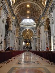 聖彼得教堂內部(Basilica di San Pietro in Vaticano)