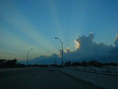 The Sky Put on a Show Tonight (6) (Care_SMC) Tags: street bridge sunset sky oklahoma clouds lights sunbeams ultimateshot