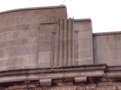 Burton's pediment detailing