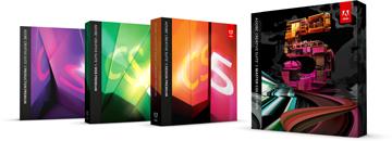 Box sets from Adobe CS5 family