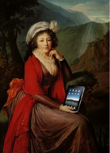 Countess Bucquoi and Her iPad, after Elisabeth-Louise Vigee-LeBrun